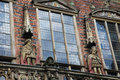 Bremen statues at the town hall rathaus of northwestern germany Royalty Free Stock Photo