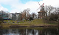 Bremen windmill in germany by the river trave Stock Photography