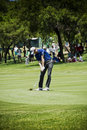 Brendon todd chipping the ball onto the green on the th day of the tournament sun city gary player golf course nedbank million Royalty Free Stock Image