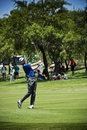 Brendon todd chipping the ball onto the green on the th day of the tournament sun city gary player golf course nedbank million Royalty Free Stock Photos