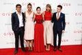 Brenton Thwaites, Katie Holmes, Odeya Rush, Taylor Swift, Cameron Monaghan Royalty Free Stock Photo