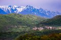 Brentonico in italy view on trentino alto adige Royalty Free Stock Image