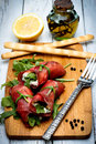 Bresaola rolls Royalty Free Stock Images