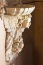Brescia italy the baroque stoup in chiesa di santa maria della carita may Stock Photos