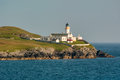 Bressa light shetland isles knowm as the this lighthouse traditionaly marks the start and end of any sea journey to or from Stock Image