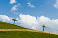 Bressanone south tyrol cable car at mount plose Stock Photos