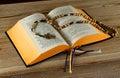 Breviary book and holy Rosary Royalty Free Stock Photo