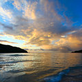 Brewers bay of tortola bvi evening sets in over on british virgin islands Royalty Free Stock Images