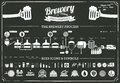 Brewery infographics - beer illustrations Royalty Free Stock Photo