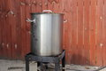 Brewing pot and burner Royalty Free Stock Photo