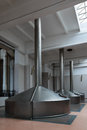 Brewing production mash vats interior brewery nobody Royalty Free Stock Photo