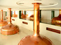 Brewing vats beer brewery modern in in czech republic Royalty Free Stock Photos