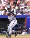 Brian jordan atlanta braves outfielder image taken from color slide Royalty Free Stock Photo
