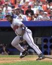 Brian jordan atlanta braves outfielder image taken from color slide Stock Photos