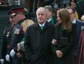 Brian mulroney at jim flaherty state funeral in to toronto canada april former prime minister of canada scenes of the for former Stock Photos