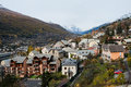Briancon in autumn with mountains france Stock Photo