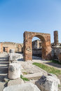 Brick arch in pompeii ancient the ruins of Royalty Free Stock Photos