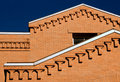 Brick building on sunny day Royalty Free Stock Photo