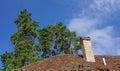 Brick chimney Royalty Free Stock Photo