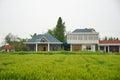 A Brick Chinese Village House ...