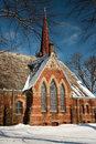 Brick Church Royalty Free Stock Photo