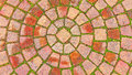 Brick Circle Pattern on the Sidewalk Royalty Free Stock Photo