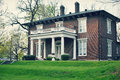 Brick Colonial House Royalty Free Stock Photo