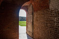 Brick entryway at fort pulaski on tybee island near savannah georgia Royalty Free Stock Photo