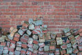 Brick facade background of ancient Royalty Free Stock Image