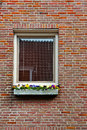 Brick facade window on the in the dutch city Stock Images