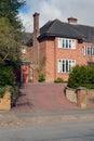 Brick family house. Royalty Free Stock Photo