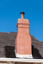 Brick fireplace Stock Photos