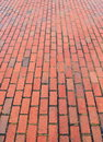 Brick footpath background. Royalty Free Stock Photo