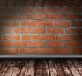 Brick grunge interior Royalty Free Stock Photo