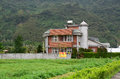 A brick house in Hualien, Taiwan Royalty Free Stock Photo