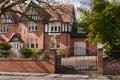 Brick house's gateway Royalty Free Stock Photo