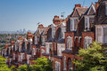 Brick houses on a panoramic shot from muswell hill london uk view of s business district Royalty Free Stock Photos