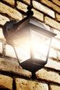 Brick lamp wall Στοκ Εικόνες