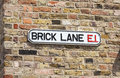 Brick Lane Street Sign, London, England Royalty Free Stock Photo