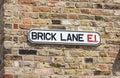 Brick Lane Street Sign, London, England Royalty Free Stock Photo