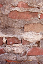 Brick and mortar of vintage red brick wall portrait orientation on a very old in atlanta Royalty Free Stock Photo