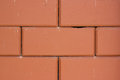 Brick and mortar wall red useful as a background Stock Photography