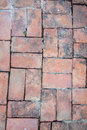 Brick old floor background red red patterns Stock Photography