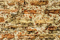 Brick old textural wall as background in form of Royalty Free Stock Images