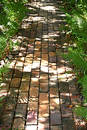 Brick Path Royalty Free Stock Photo