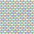 Brick pattern. Seamless vector brick wall background Royalty Free Stock Photo