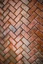 Brick pavers covered in grime Royalty Free Stock Photo