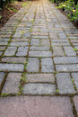 Brick Pavers Garden Path Stock Photos