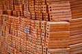 Brick pile in order to prepare for construction Stock Images