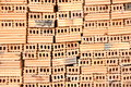 Brick pile of red bricks is construction materials Stock Photography